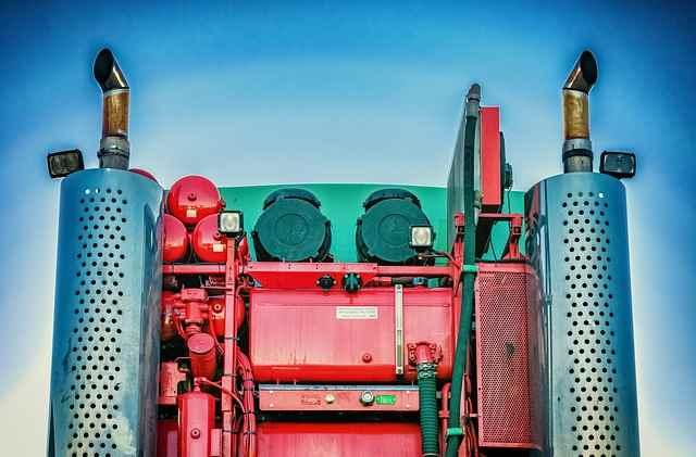 Abgasanlage eines LKW